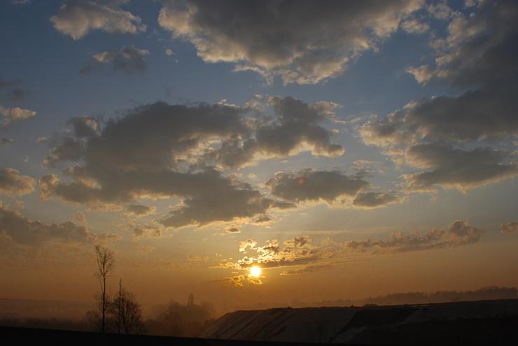 Lever de soleil sur l'A12