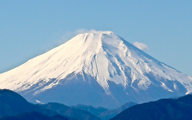 Le poète devant le mont Fuji