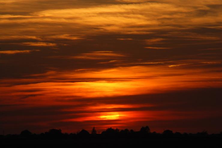 Couché de soleil sur le Loiret