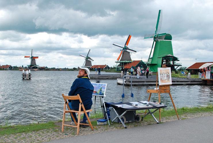 La pluie à Zaandam